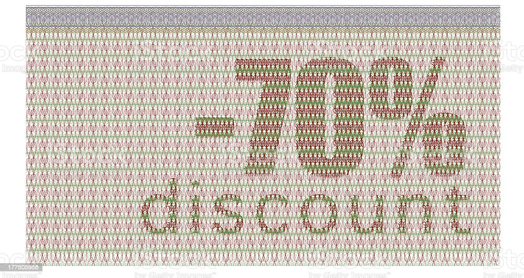 discount coupon -70% royalty-free stock photo
