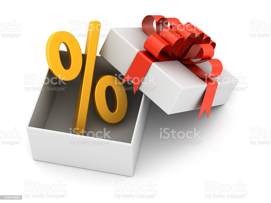 discount in the gift royalty-free stock photo