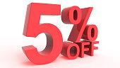 Discount Off 5 Percent