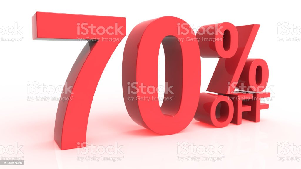 Discount Off 70 Percent stock photo