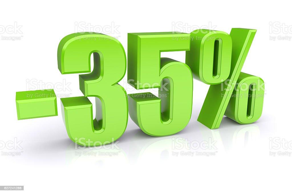 35% discount on a white stock photo