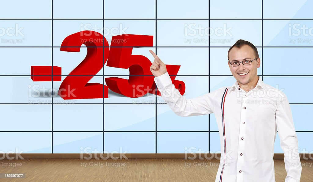 discount on plasma wall royalty-free stock photo
