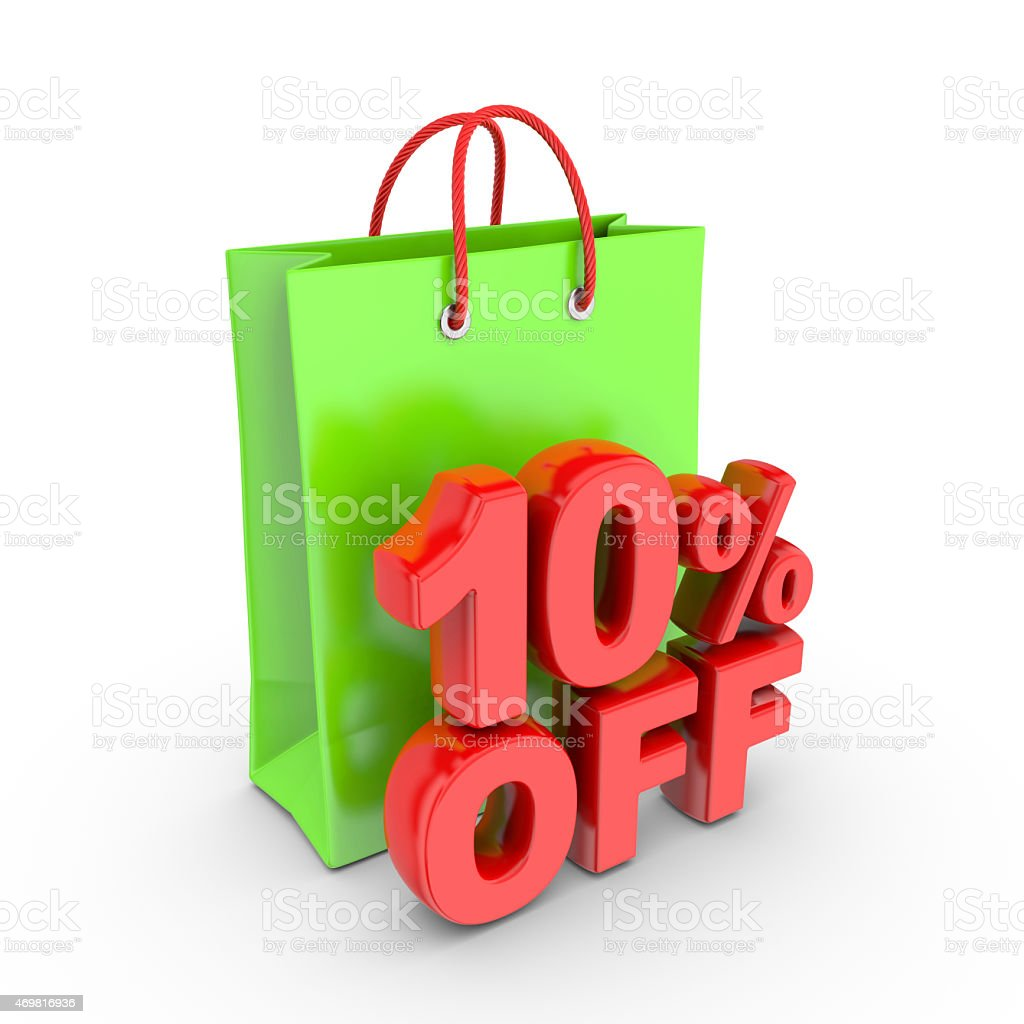 Discount on purchase of 10 percent. royalty-free stock photo