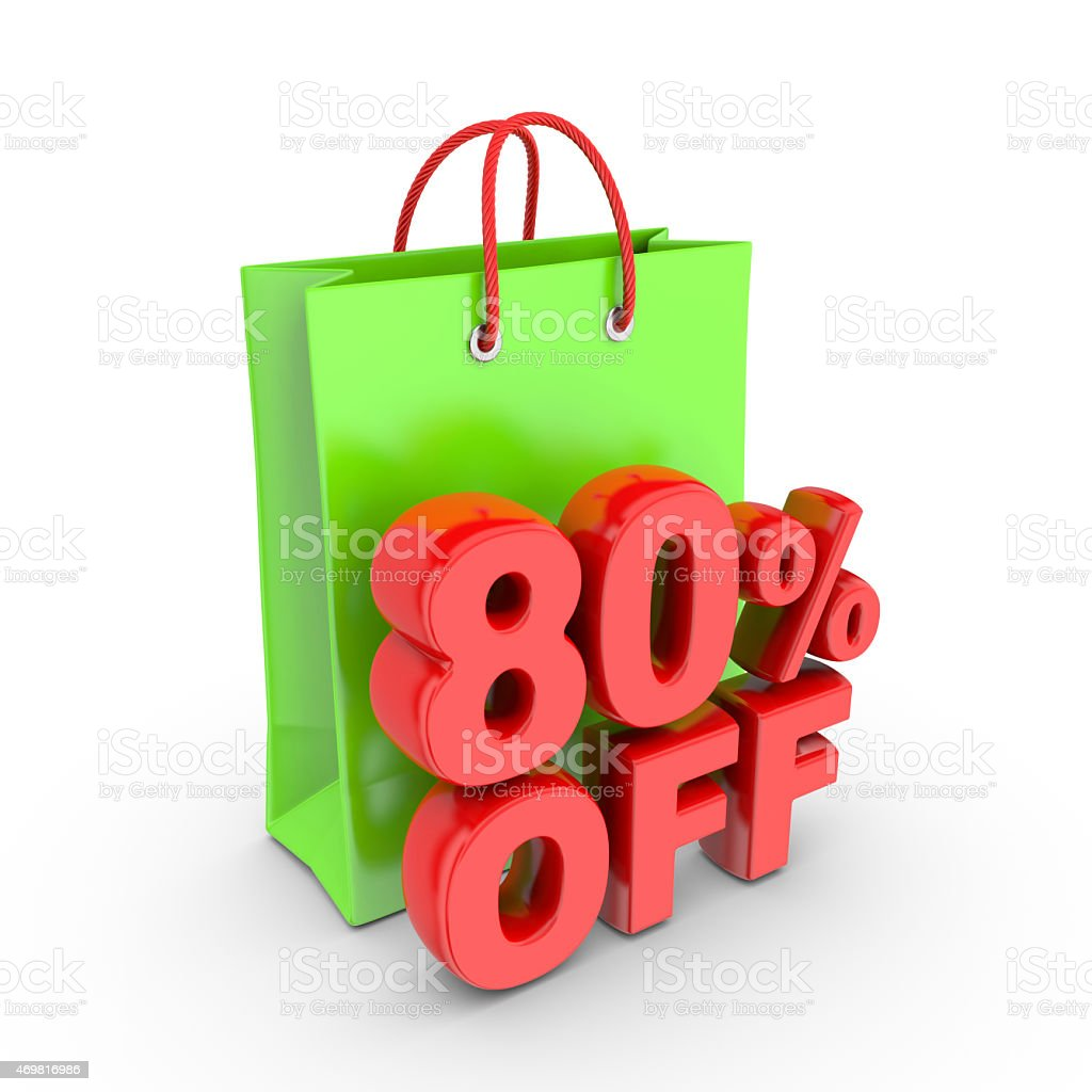Discount on purchase of eighty percent. royalty-free stock photo