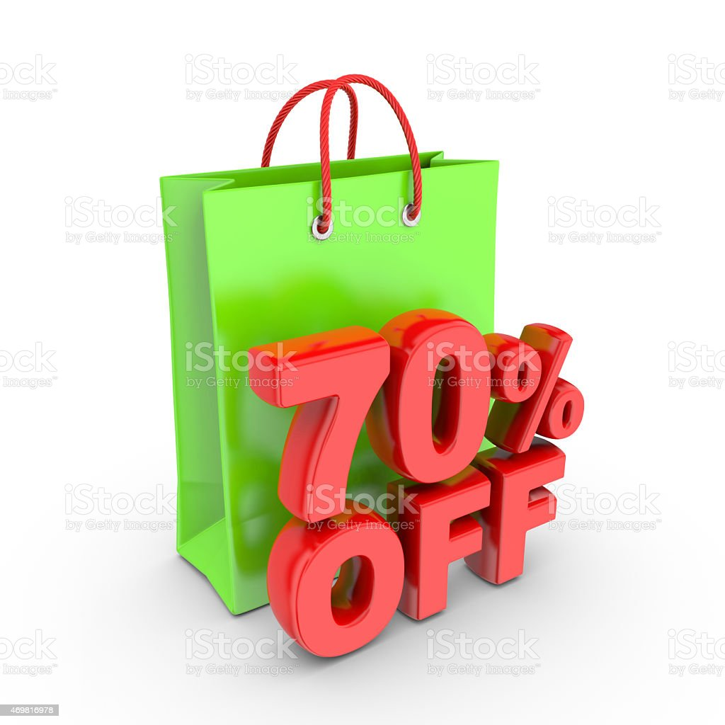 Discount on purchase of seventy percent. royalty-free stock photo