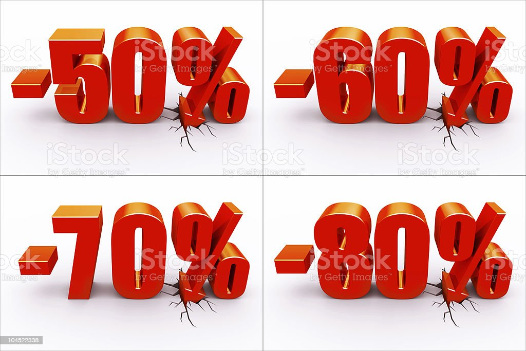 Discount percents royalty-free stock photo