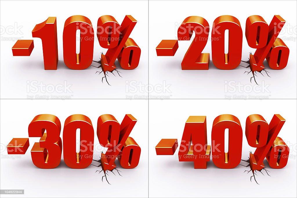 Discount percents stock photo