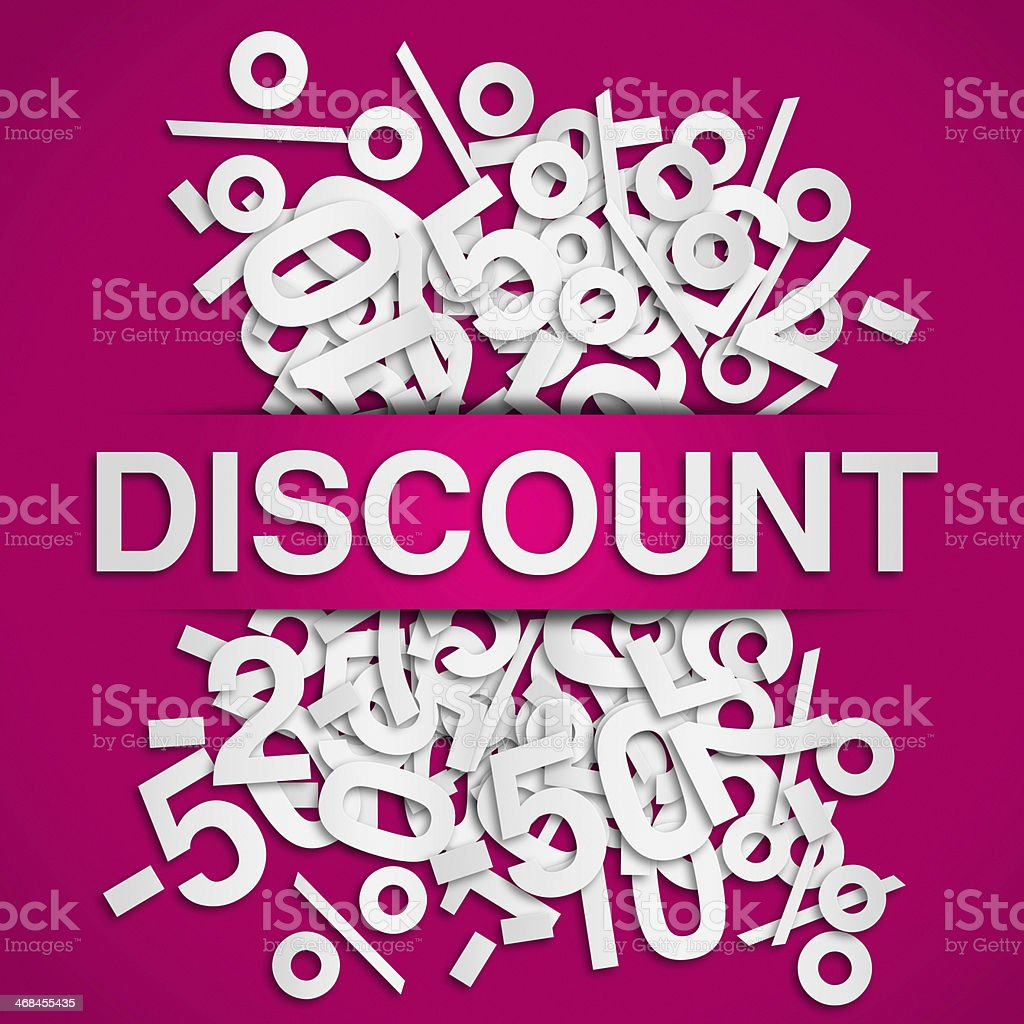Discount poster stock photo