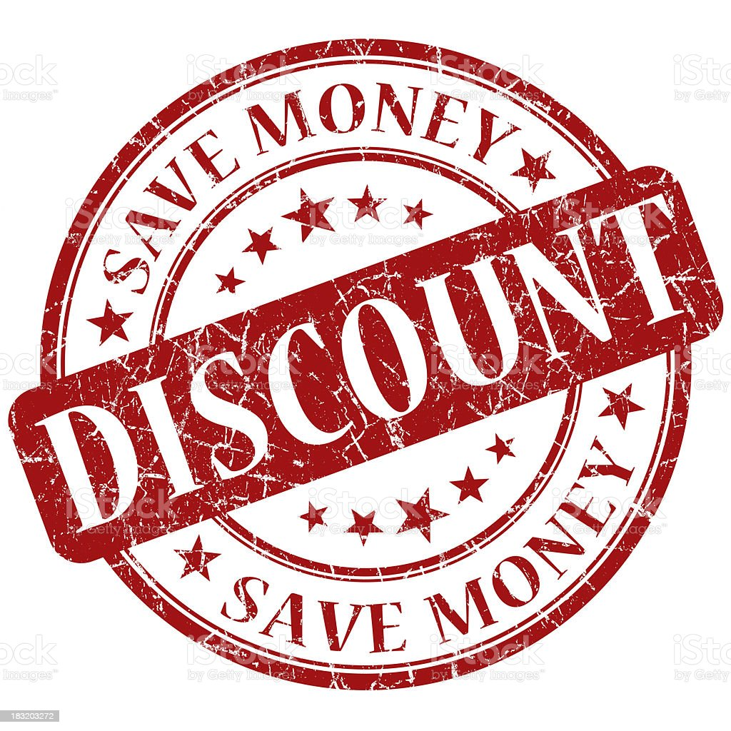 discount red stamp royalty-free stock photo