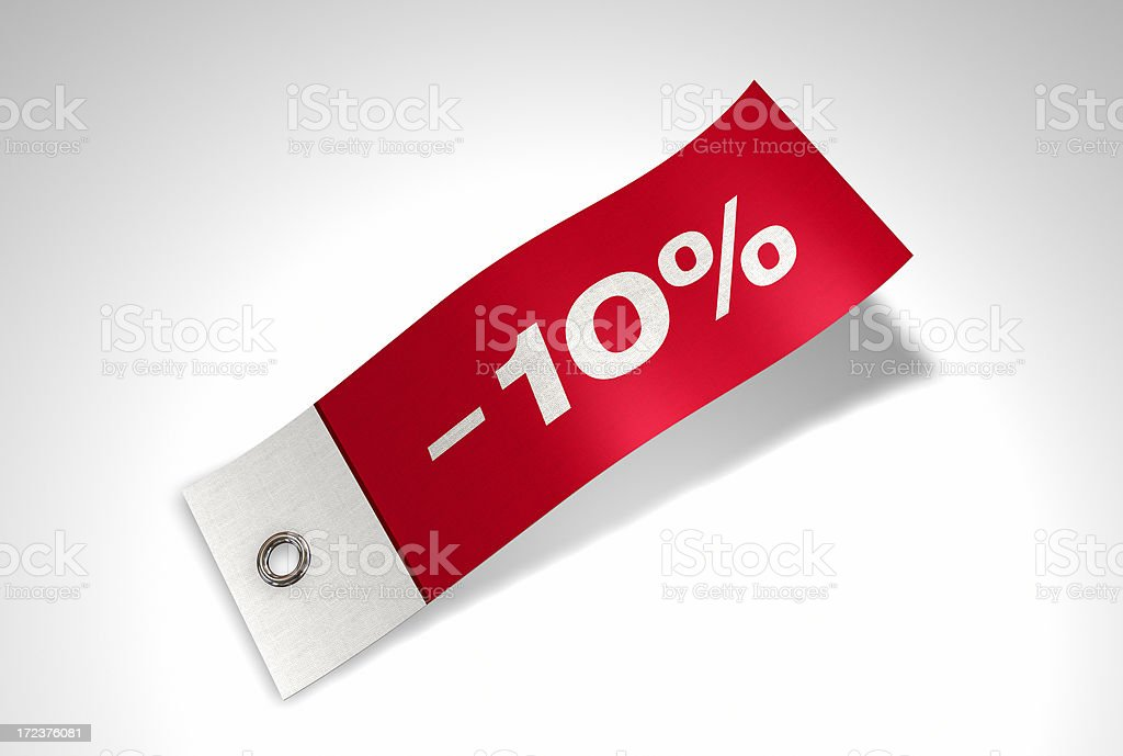 Discount Series Flag -10% stock photo
