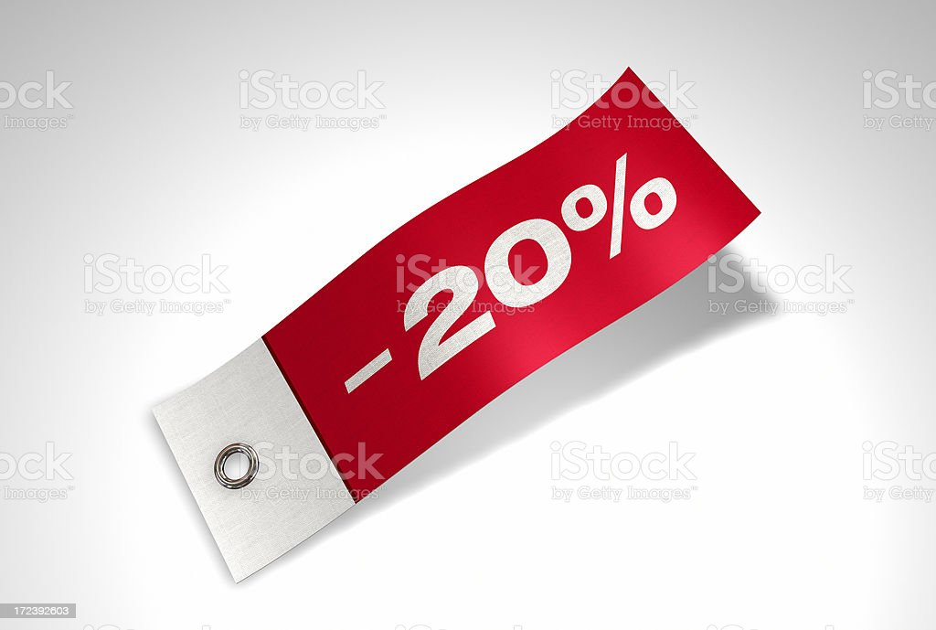 Discount Series Flag -20% royalty-free stock photo