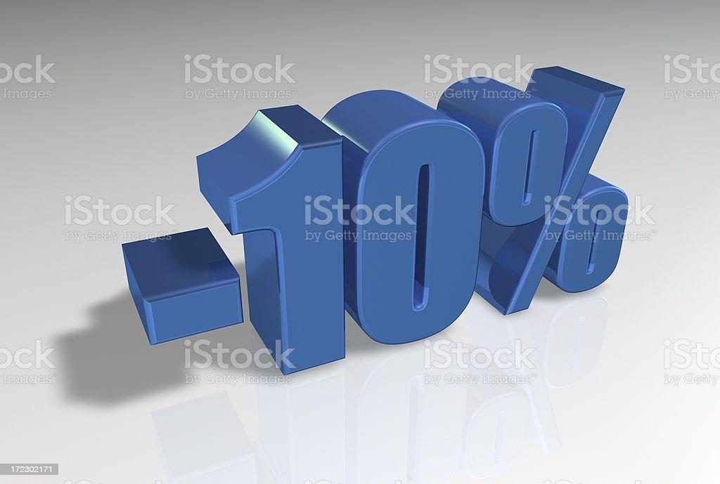 Discount Series II -10% royalty-free stock photo