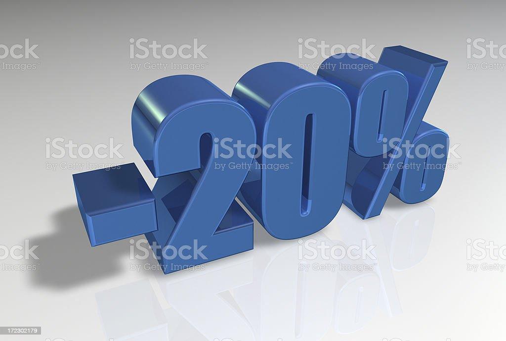 Discount Series II -20 royalty-free stock photo