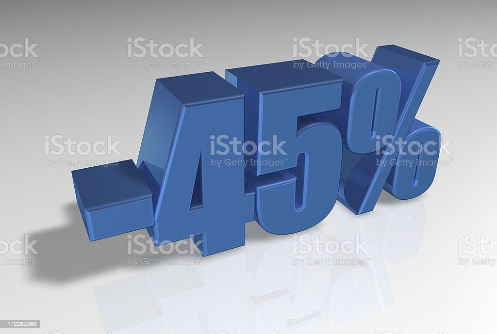 Discount Series II -45% stock photo