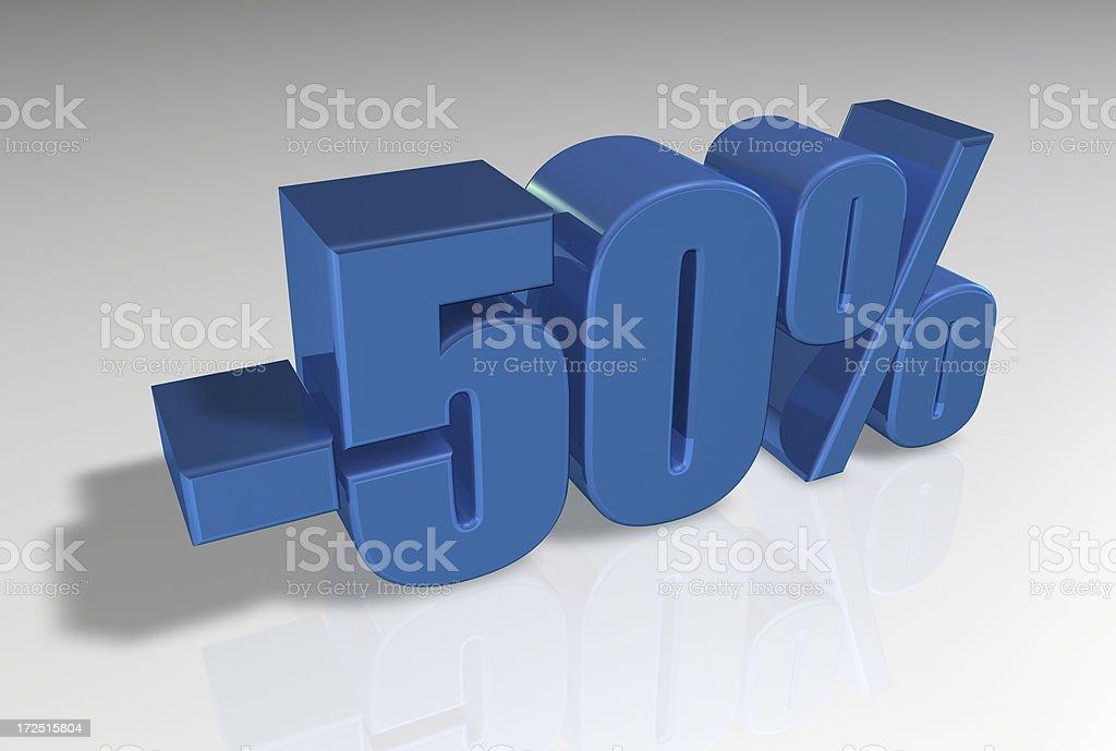 Discount Series II -50% royalty-free stock photo