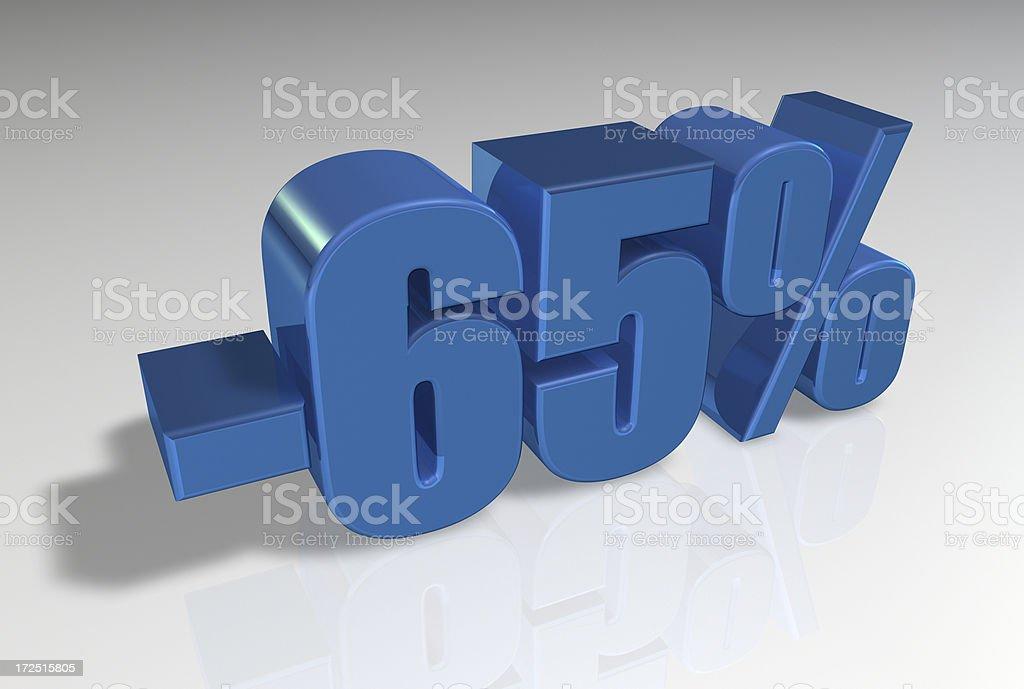 Discount Series II -65% stock photo