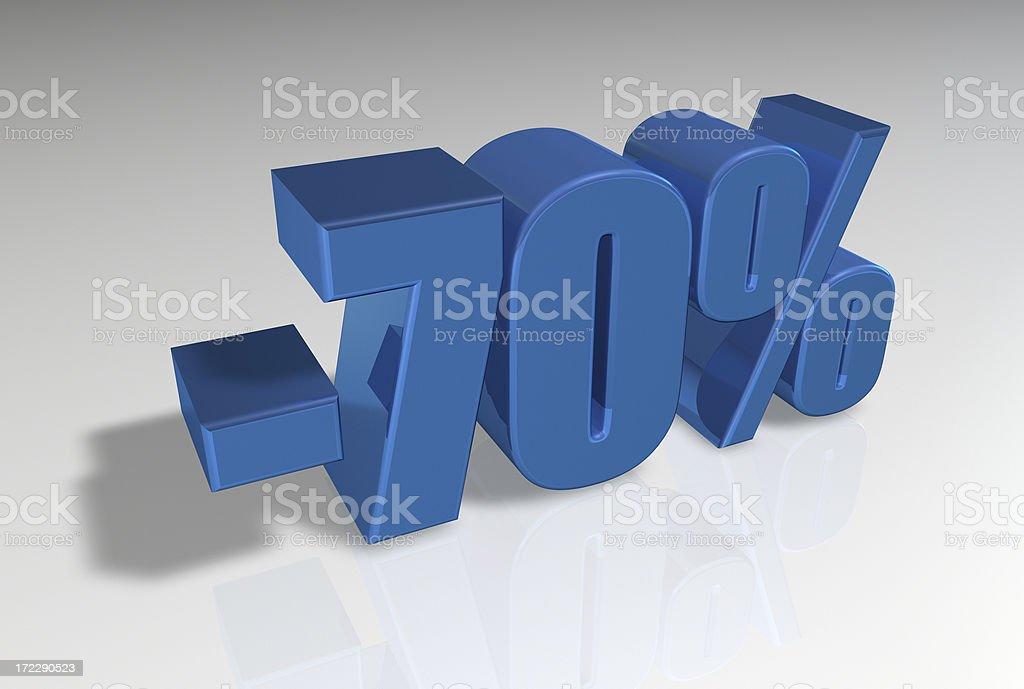Discount Series II -70% stock photo