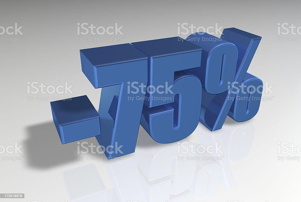 Discount Series II -75% stock photo