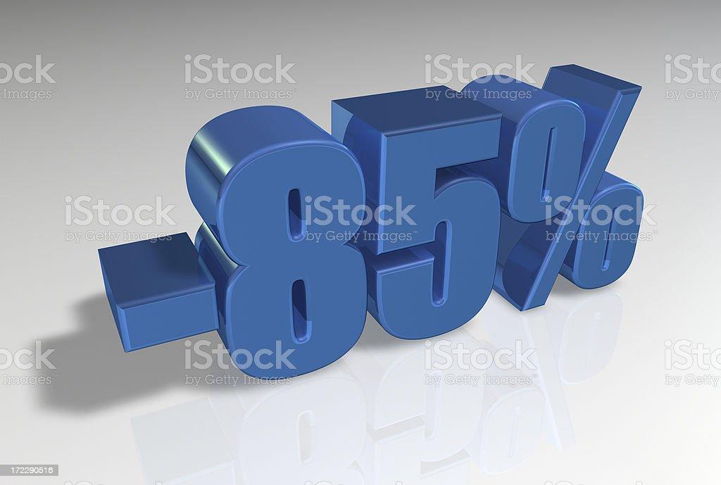 Discount Series II -85% stock photo