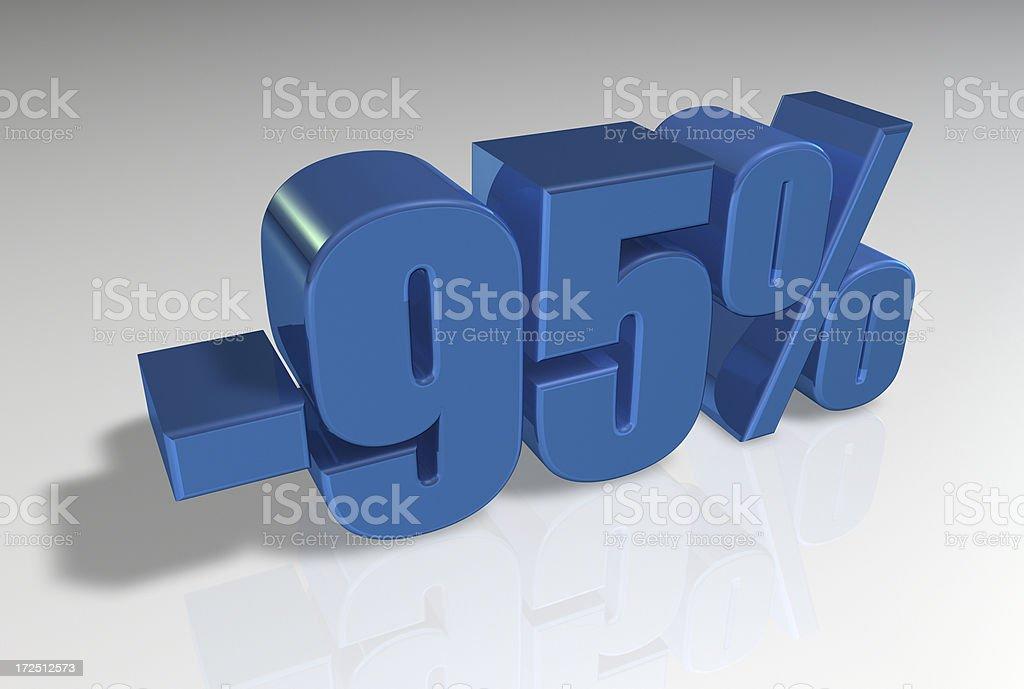 Discount Series II -95% stock photo