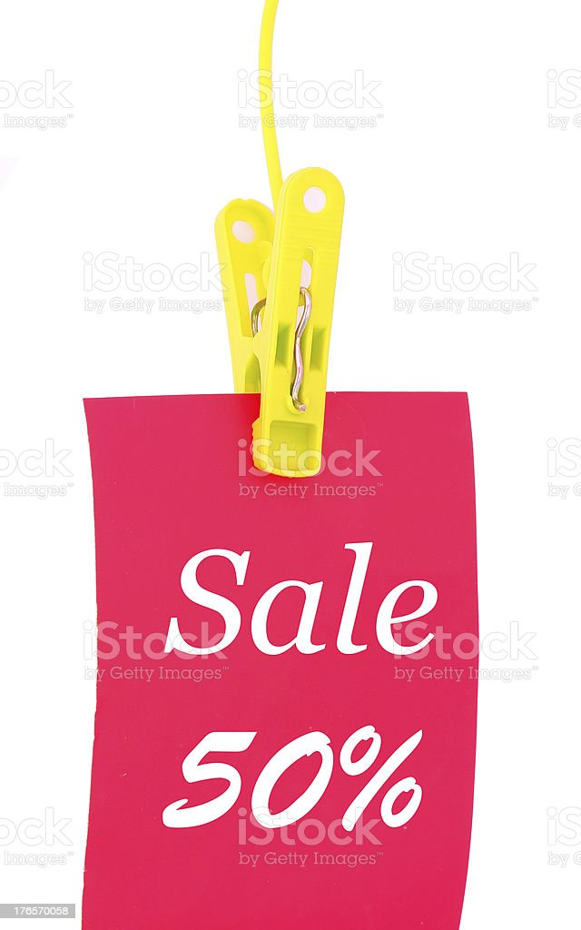 -50% discount sticker royalty-free stock photo