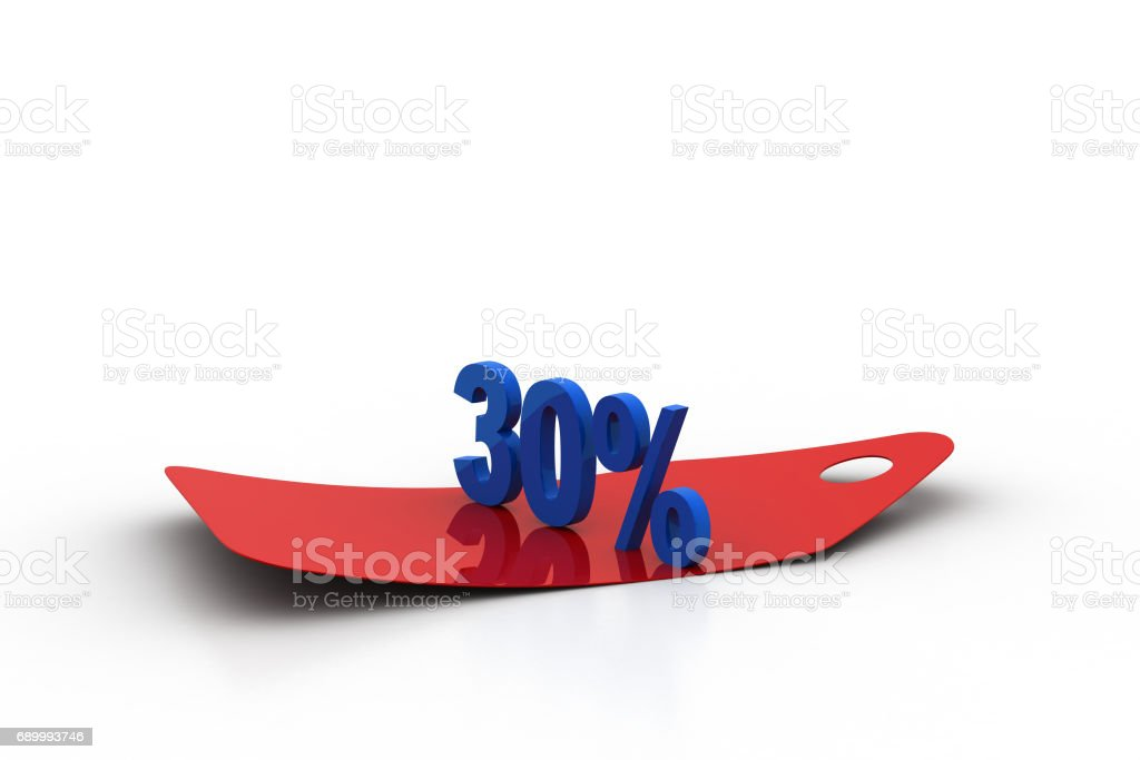 Discount tag stock photo