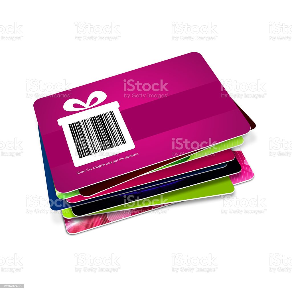 discount vouchers with bar code isolated over white background. Bar...