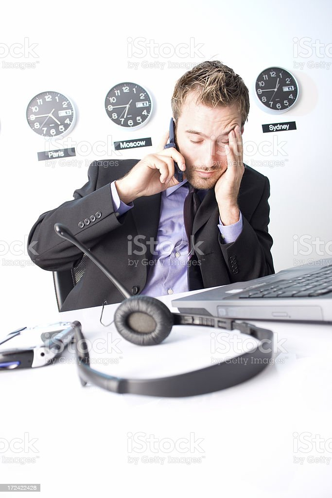 Discouraged businessman royalty-free stock photo