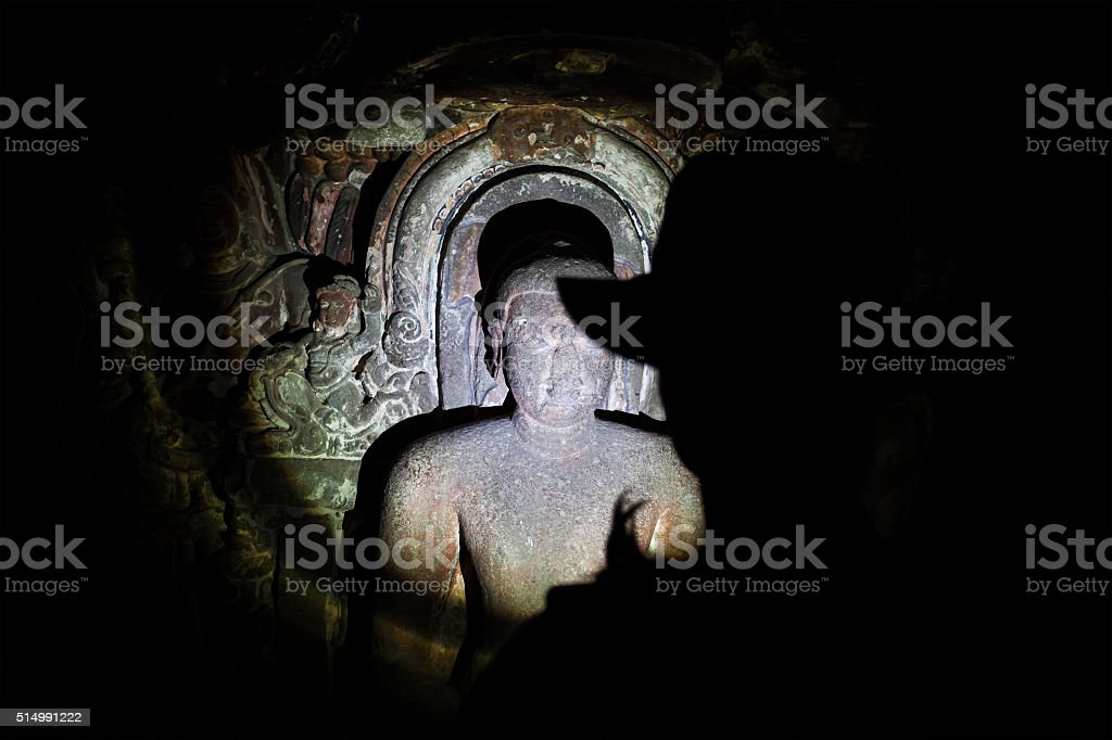 Discover caves in India stock photo