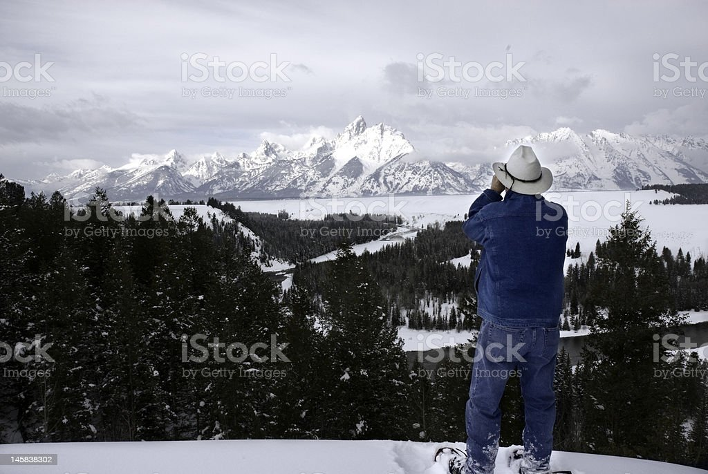 discover the Tetons stock photo
