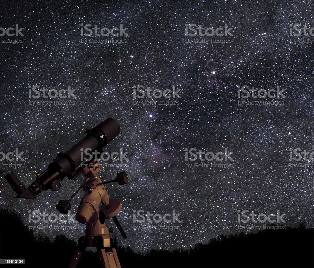 Discover the universe stock photo