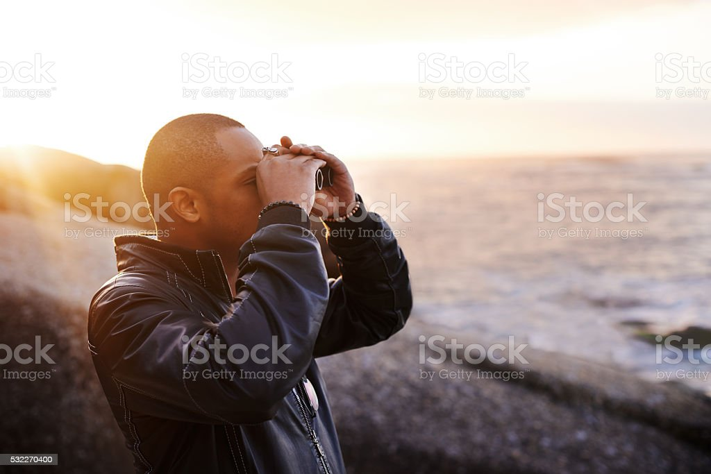 Discover what the world has to offer stock photo