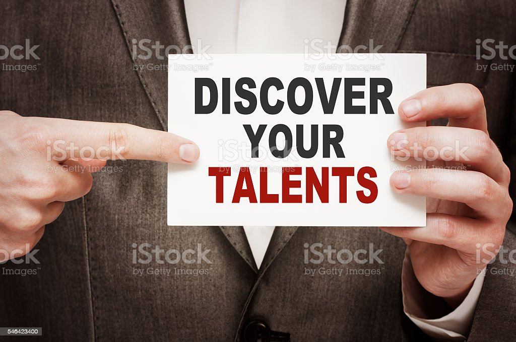 Discover Your Talents stock photo