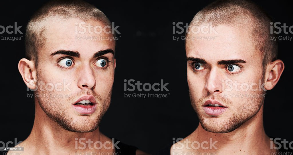 Discovering a different side of himself royalty-free stock photo