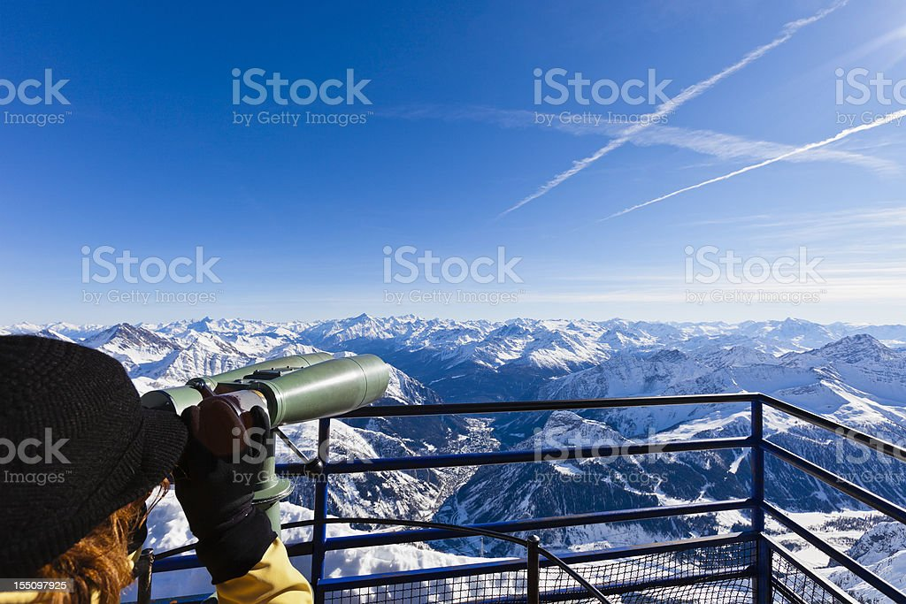 Discovering the Mont Blanc Massif stock photo