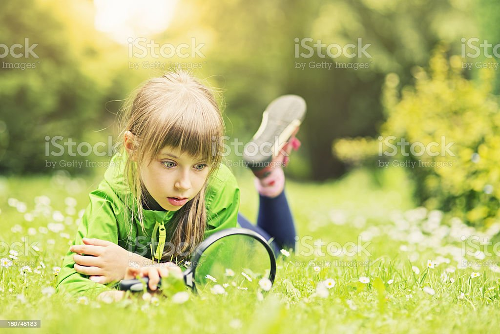 Discovering the mysteries of nature stock photo