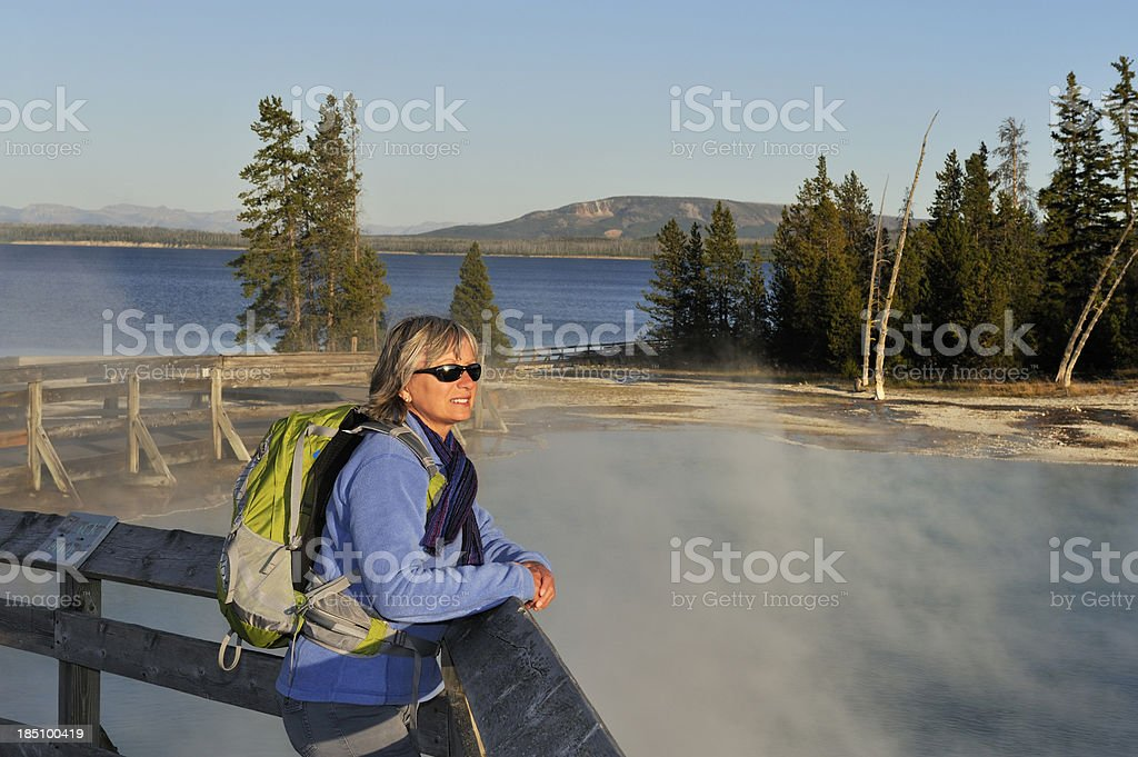 Discovering Yellowstone stock photo