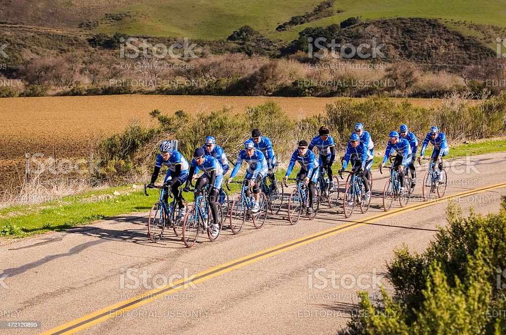Discovery Channel Cycle Team stock photo