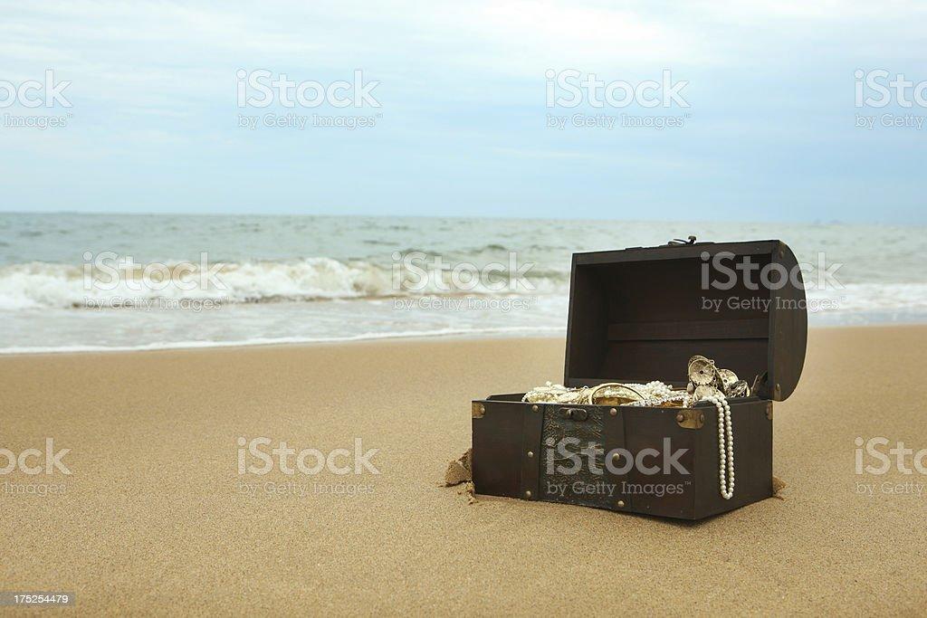 Discovery of Treasure stock photo