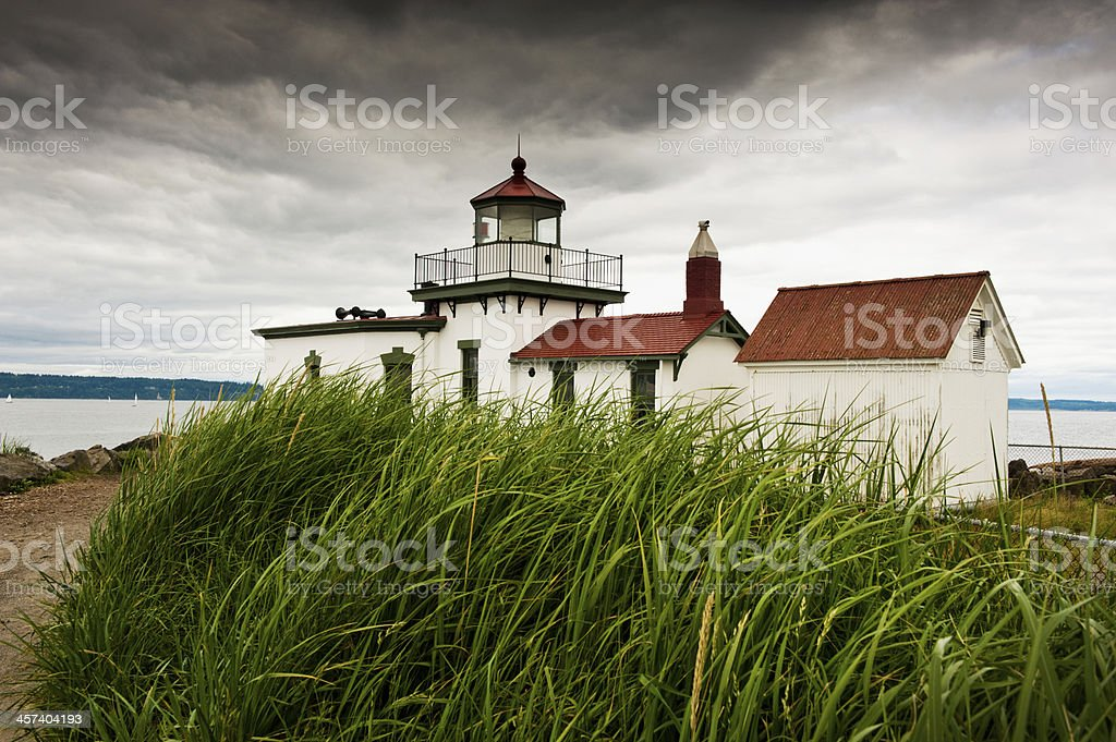 Discovery Park Lighthouse. royalty-free stock photo
