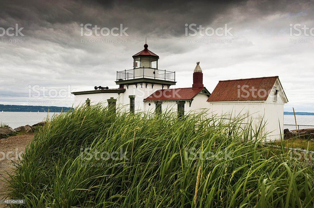 Discovery Park Lighthouse. stock photo