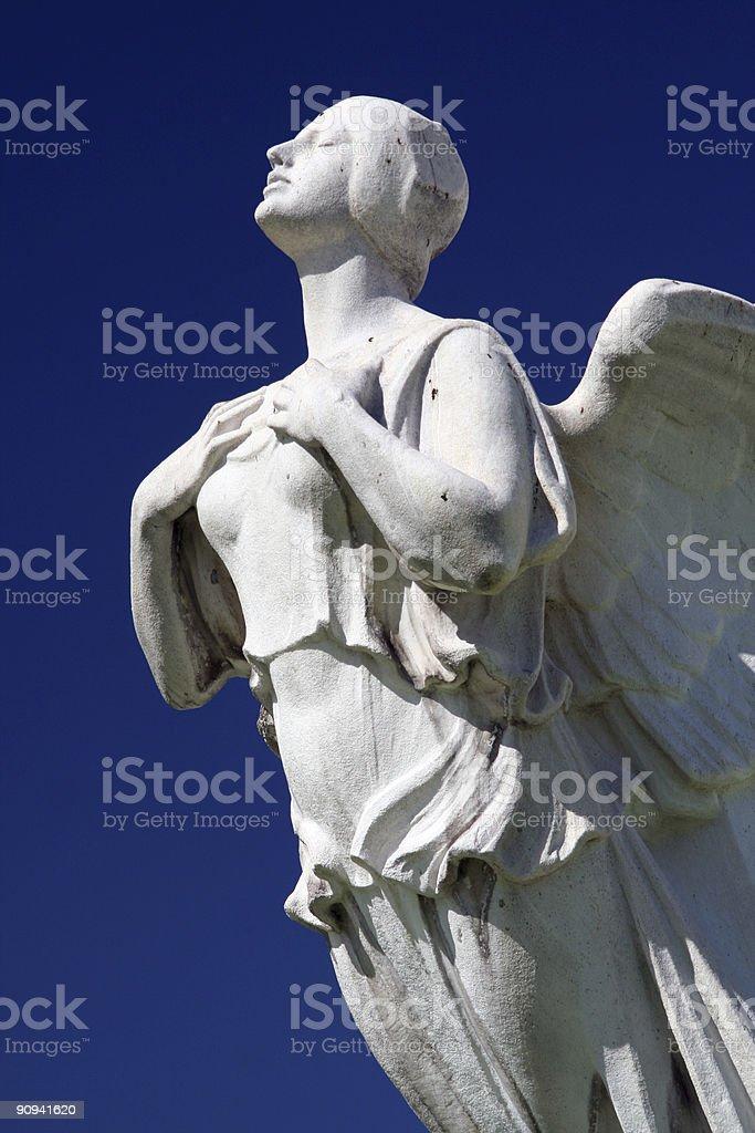 Discovery the angel figurehead. stock photo