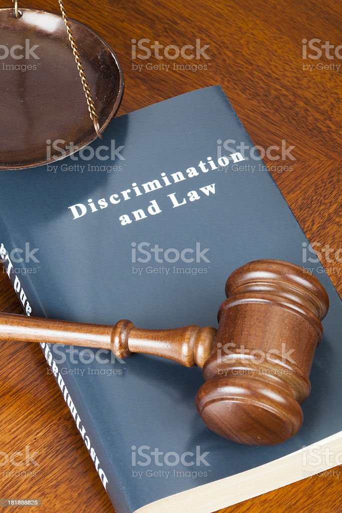 Discrimination and Law royalty-free stock photo