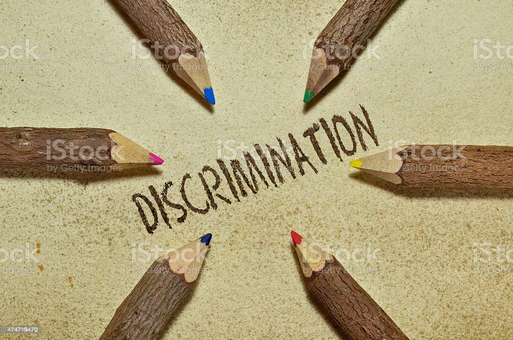 Discrimination stock photo