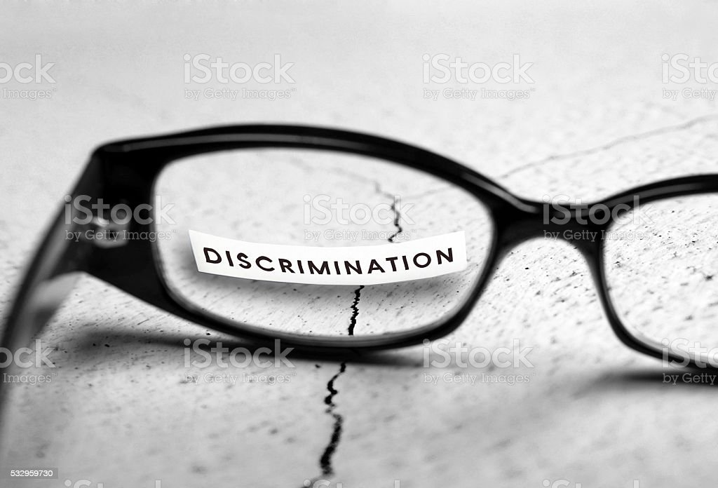 Discrimination stock photo
