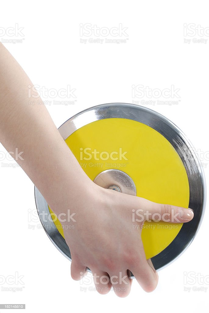 Discus in hand royalty-free stock photo