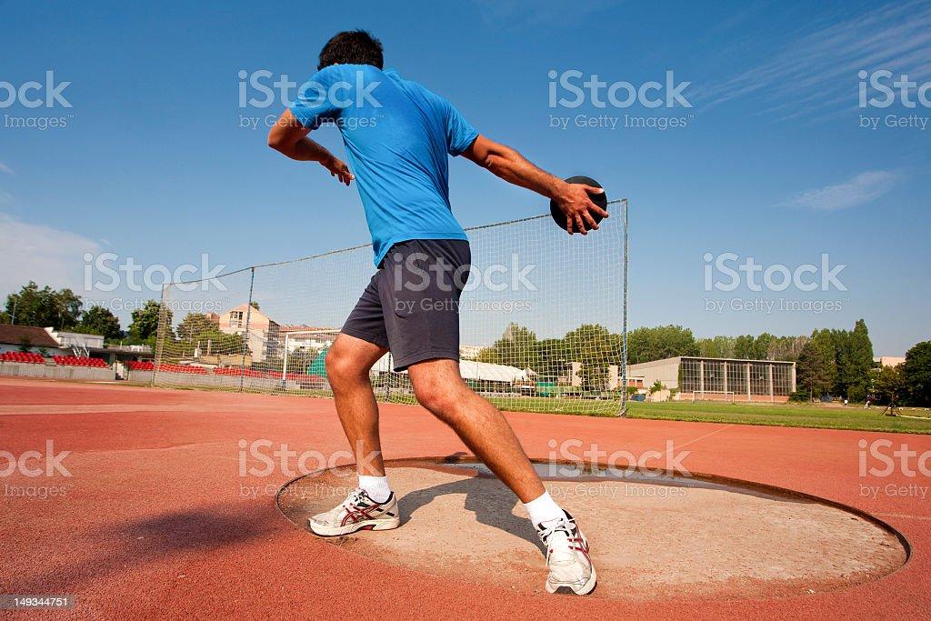 Discus throw stock photo