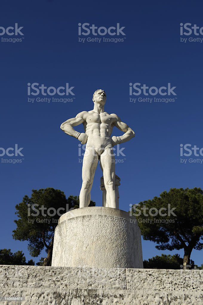 discus thrower modern sculpture royalty-free stock photo