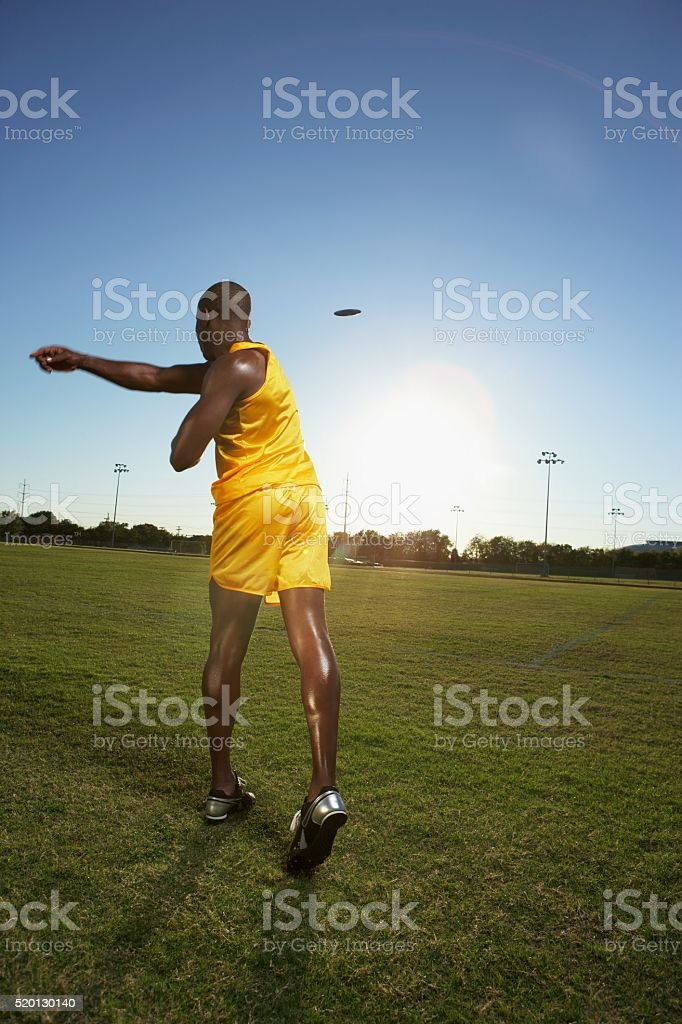 Discus thrower stock photo