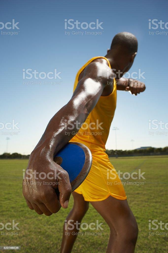 Discus thrower stock photo